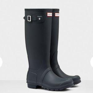 Hunter Women's Original Tall Rain Boots Navy